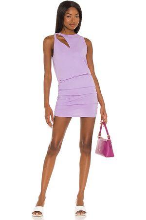 N:philanthropy Minivestido charley en color lavanda talla L en - Lavender. Talla L (también en XS, S, M).