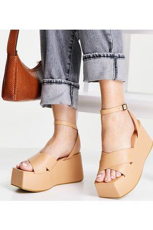 Public Desire Elevate plaftorm sandals in camel