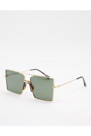 My Accessories London aviator sunglasses in oversized square