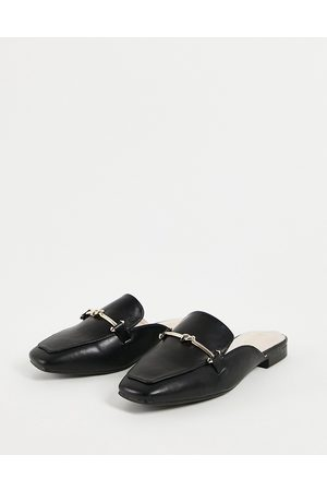 Raid Logan backless loafers in black