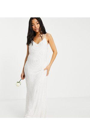 Virgos Petite Bridal embellished cami dress in white