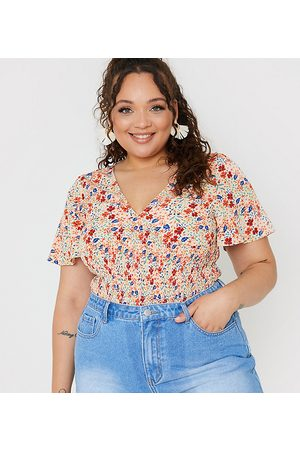 In The Style X Jac Jossa shirred flutter sleeve body co ord in multi floral print