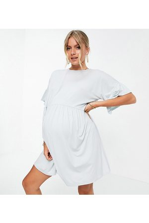 Missguided Mujer Vestidos - Frill detail smock dress in blue
