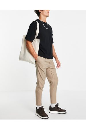 ASOS Tapered smart jogger in stone