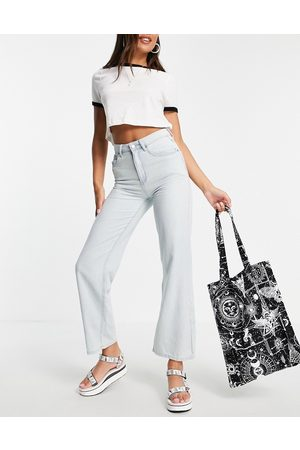 Lost Ink Relaxed fit wide leg jeans in light wash