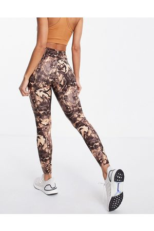 LORNA JANE Mujer Leggings y treggings - Marble print ankle biter leggings
