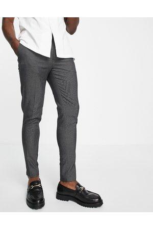 ASOS Super skinny smart trouser in grey pin dot