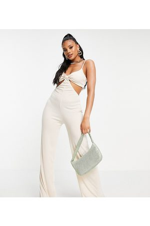 Missyempire Mujer Largos - Exclusive cut out strappy jumpsuit in ivory