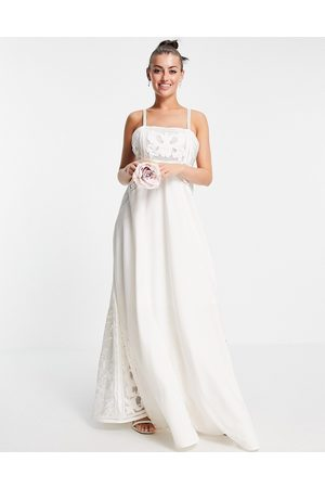 ASOS Layla cami wedding dress with applique embroidery