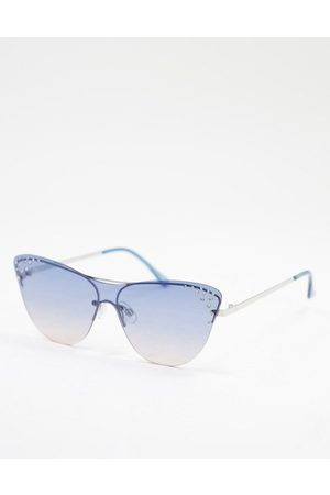 Jeepers Peepers Womens cat eye sunglasses in blue