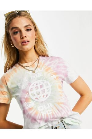 French Connection Mujer Tops - You Me tie dye cropped tshirt
