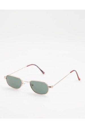 ASOS Mini square sunglasses in gold metal