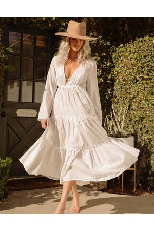 Billabong Salty Blonde Wander maxi beach dress in white