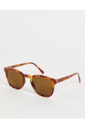A. Kjærbede Bate unisex square sunglasses in light brown tort