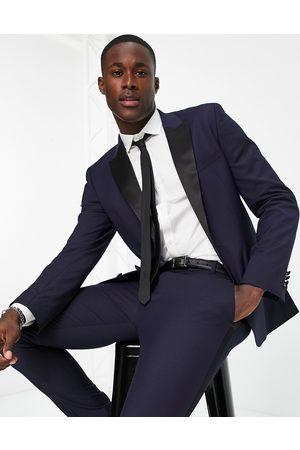 ASOS Skinny tuxedo in navy suit jacket