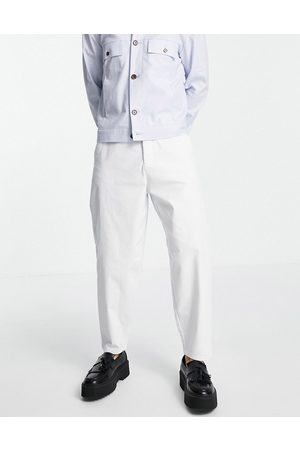 ASOS Hombre Chinos - Oversized tapered fit chinos in white