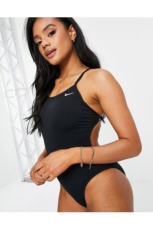 Nike Mujer Trajes de baño completos - Cut out swimsuit in black