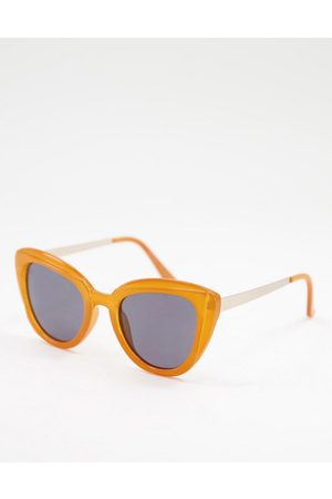 Jeepers Peepers Mujer Lentes de sol - Womens cat eye sunglasses in orange