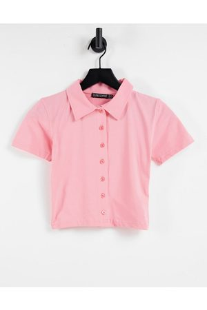 I saw it first Short sleeve polo top in pink