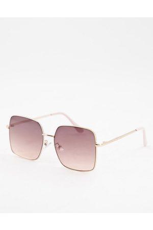 Skinnydip Retro square sunglasses in smokey ombre