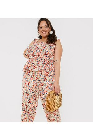 In The Style Mujer Leggings y treggings - X Jac Jossa wide leg trouser co ord in multi floral print