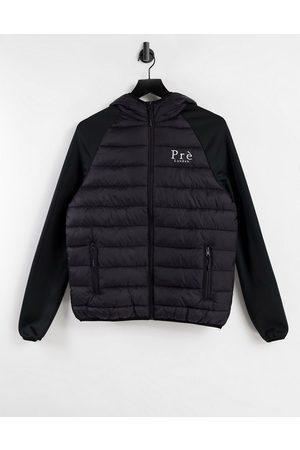 Pre London Hombre De plumas - Hybrid padded jacket in black