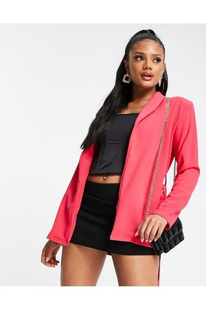 Public Desire Belted pink blazer co ord in pink