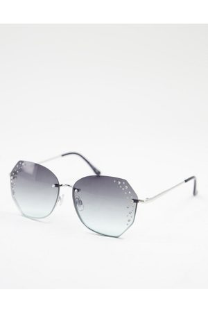 Jeepers Peepers Womens round sunglasses in silver