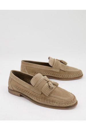 WALK LONDON Arrow woven loafers in suede