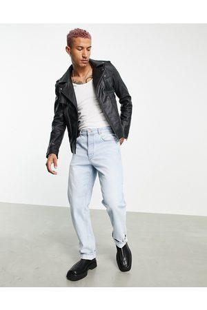 Bolongaro Fringed leather biker jacket