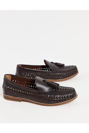 Office Clapton woven tassel loafers in brown leather