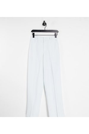 COLLUSION Unisex low rise straight leg trouser in ice blue