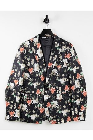 Devils Advocate Hombre Sacos - Skinny fit sateen all over floral print blazer