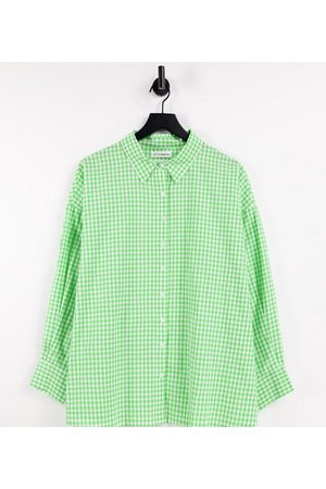 Native Youth Very oversized boyfriend shirt in bright gingham co