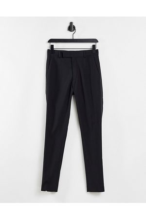 ASOS DESIGN Skinny tuxedo in black suit trousers