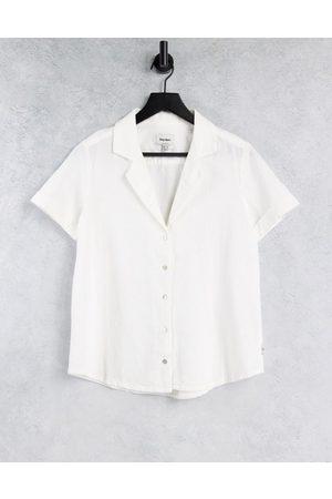 Rhythm Classic beach shirt in white