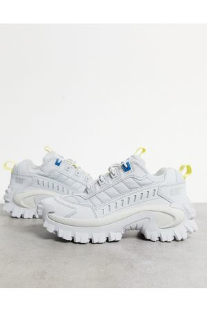 Cat Footwear CAT Intruder chunky trainers in off white yellow and blue