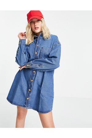Urban Bliss Oversized shirt dress in blue