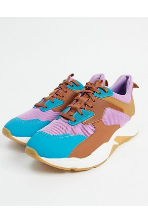 Timberland Colourblock trainer in blue and purple