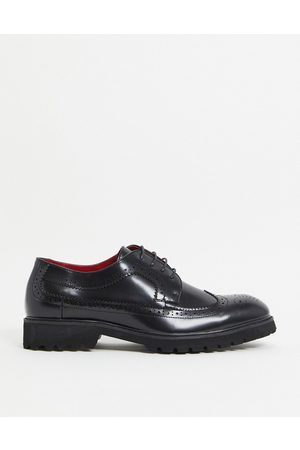 Devils Advocate Chunky brogue in black