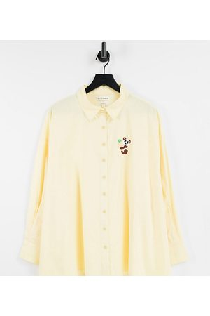 Native Youth Someones boyfriends shirt in lemon drop with panda embroidery