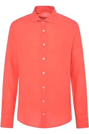 Hackett Camisa Manga Larga Garment Dye Linen Ks L Coral