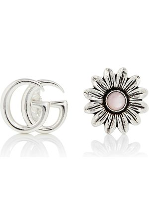 Gucci Double G floral sterling silver earrings