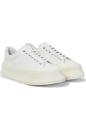 Jil Sander Canvas platform sneakers