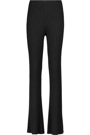 GALVAN Rhea ribbed-knit flared pants