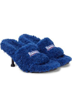 Balenciaga Faux shearling sandals