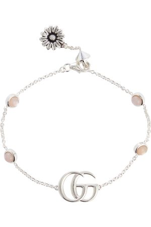 Gucci Double G mother-of-pearl and sterling silver bracelet