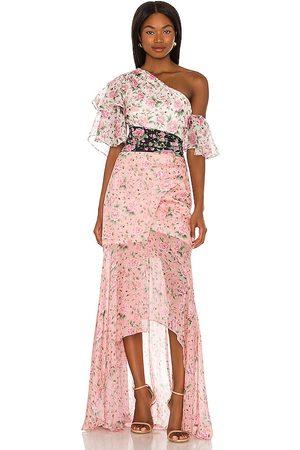 AMUR Mujer Maxi - Vestido largo alissa en color rosado talla 0 en - Pink. Talla 0 (también en 00, 2, 4, 6, 8).