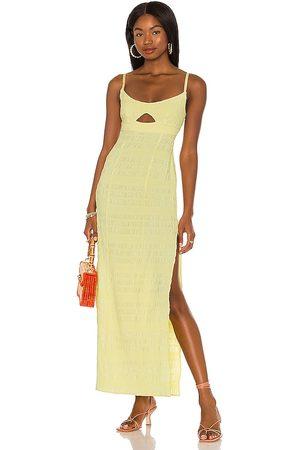 LPA Vestido camille en color amarillo limon talla L en - Lemon. Talla L (también en XXS, XS, S, M).