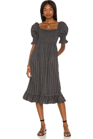 MAJORELLE Mujer Midi - Vestido midi margret en color charcoal talla L en - Charcoal. Talla L (también en XXS, XS, S, M, XL).